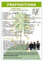 PREPOSITIONS - LEMON TREE