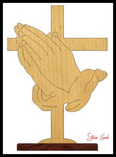 cross Scroll Saw Patterns | Scrollsaw Workshop: Praying Hands Cross Scroll Saw Pattern