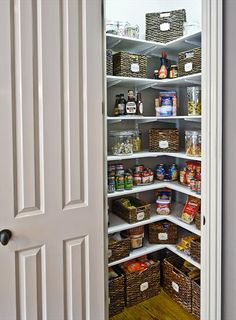walk-in and reach-in pantry ideas | pantry ideas, pantry and clutter