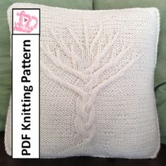 Tree of Life knit pattern, Tree of Life pillow cover knitting pattern, Tree of Life cushion cover knitting pattern, knit pattern pdf. - Crochet and Knit Knitting Projects, Crochet Projects, Knitting Patterns, Crochet Patterns, Knitted Cushions, Knit Pillow, Hand Knitting, Cable Knitting, Knit Crochet