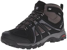 Salomon Men s Evasion Mid GTX Hiking Boot Mid-high hiking boot featuring  water-resistant split suede and synthetic upper with gusseted tongue  Protective ... d0736d4c5e1