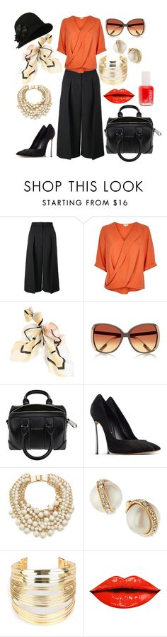 """""""pretty orange"""" by pretty-girl81 on Polyvore featuring moda, Erdem, River Island, White House Black Market, Givenchy, Casadei, Kate Spade, WithChic, Essie e women's clothing"""