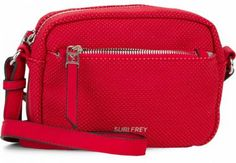 !!!Suri Frey Romy Hetty Red perforierte Schultertasche rot Suri Frey, Red, Dime Bags, Die Cutting, Artificial Leather, Sachets, Nice Asses, Rouge