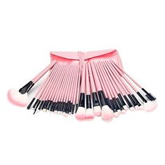 KUPOO 32 Pcs Professional Makeup Brush Cosmetic Set Kit with Case_Pink *** To view further for this item, visit the image link.