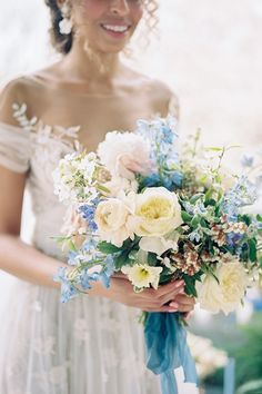 """From the editorial, """"European Inspired Wedding Editorial With An Abundance Of Magnolia"""". @jennatracyevents created an event celebrating the Italian High Renaissance style of the estate mixed with all the makings of your favorite fairytale. 