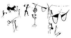 Ύστερη Μεσολιθική σπηλαιογραφία στο Rajat Prapat της κεντρικής Ινδίας με παράσταση της Apis Drosata. Πηγή: Eva Crane. The world History of Beekeeping and honey hunding - See more at: http://waxcreations.gr/paragwgos.html#sthash.KEAJdDXA.dpuf