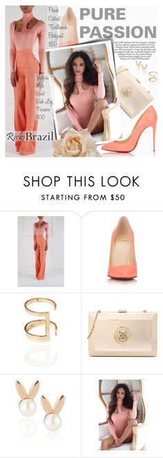 """""""Pure Passion with RickiBrazil"""" by pokadoll ❤ liked on Polyvore featuring Christian Louboutin, Love Moschino, Aamaya by priyanka and rickibrazil"""