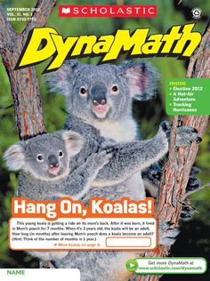 #DynaMath for grades 3-6 connects #math with #koalas! #Elementary