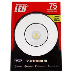 """Feit LEDR56ADJ/830 75w Replacement Dimmable 5 & 6 Inch LED Retrofit Kit -  These energy efficient Performance LED Retrofit Kits are compatible with most 5"""" & 6"""" recessed cans. They are easy to install, dimmable and last up to 50,000 hours. Each kit comes with a standard base adapter and a pre-mounted trim. www.bulkhydro.com BULK HYDRO INC"""