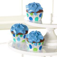 blue / green cupcake cups