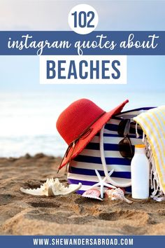 The best beach quotes and beach captions for Instagram. Including inspirational beach life quotes, short beach captions, funny beach puns and many more! | Funny beach quotes | Beach puns | Good beach captions | Missing the beach captions | Instagram beach captions | Short beach captions for Instagram | Beach captions for Instagram vacations | Beach captions for Instagram summer | Cute beach captions | Beach captions with friends | Beach quotes inspirational | Beach quotes and sayings Beach Puns, Funny Beach, Beach Humor, Good Beach Captions, Beach Life Quotes, Instagram Summer, Instagram Quotes, Quotes Inspirational, Travel Quotes