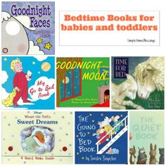 Bedtime Books for Babies and Toddlers - a book for each night of the week.  Perfect for bedtime snuggles.