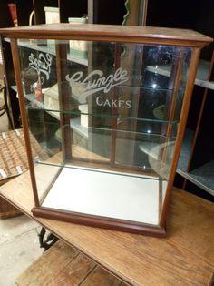 Elegant Old Shop Display Cabinets