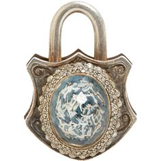 Sevan Bicakci Diamond, Lemon Topaz, Gold & Sterling Silver Large Padlock at Barneys.com