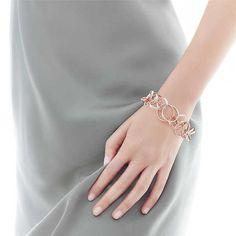 Tiffany 1837™ interlocking circles bracelet in RUBEDO® metal and silver, medium.