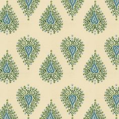 Teal Teardrop Block Print Fabric - eclectic - Upholstery Fabric - Loom Decor. Clear colors, eclectic indeed.