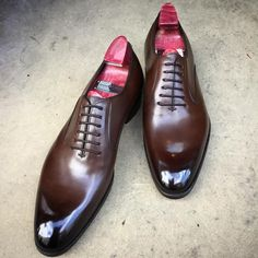 Gaziano & Girling - Bespoke & Benchmade Footwear : Photo Only Shoes, Men's Shoes, Dress Shoes, Shoes Men, Beard Suit, Bebe Daniels, Gentleman Shoes, Dark Brown Leather, Shoe Game