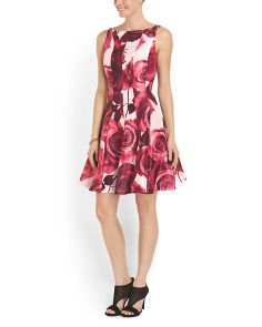 image of Floral Fit And Flare Dress