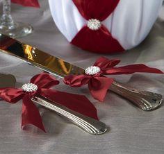 Red Allure Cake Knife and Server Set