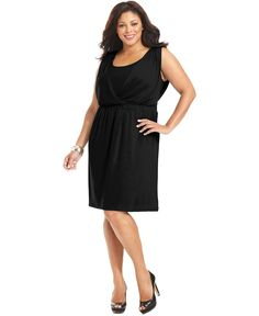 NY Collection Plus Size Dress, Sleeveless Cinched Waist - Plus Size Dresses - Plus Sizes - Macy's