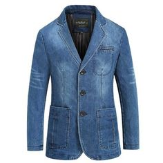 Cowboy Blazer Mens Denim Blazer Plus Size