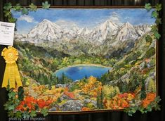 "High Country Colors, 60 x 43"", by Kathy McNeil (Washington).  2016 AQS QuiltWeek. Photo by Quilt Inspiration."