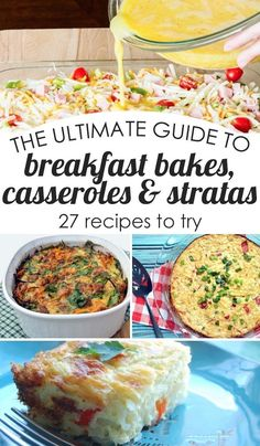 shake and bake and make a delicious breakfast with this ultimate guide to breakfast bakes, casseroles and stratas! Includes 27 recipes to try
