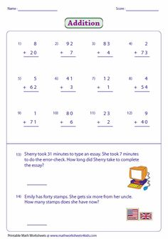 math worksheet : 1000 images about addition multiple digits on pinterest  : Multiple Digit Addition Worksheets