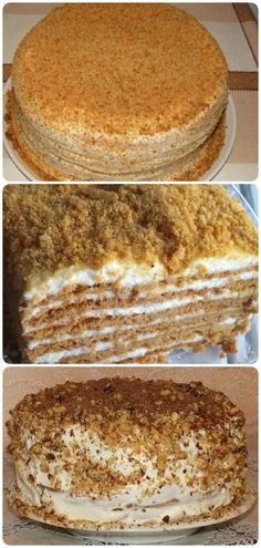 Самый вкусный и быстрый сметанник! Russian Cakes, Russian Desserts, Russian Recipes, Cake Decorating For Beginners, Easy Cake Decorating, Sweet Recipes, Cake Recipes, Dessert Recipes, Gluten Free Pumpkin Cookies