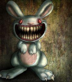 9 designs that turned cute things evil, like Little Bunny Foo Foo by Lyzius