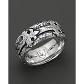 scott kay mens sterling silver distressed fleur de lis band ring