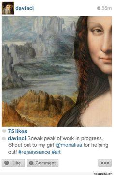 si les personnages historiques avaient instagram leonard de vinci   Si les personnages historiques avaient Instagram   photo personnage hist...
