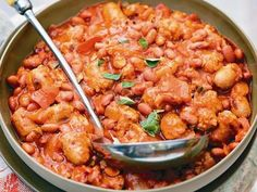 Mexican sausage & beans
