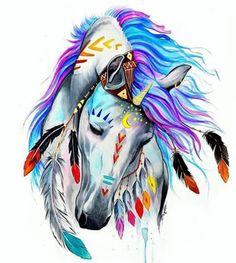Best Inspiration Art Drawing – My Life Spot Horse Drawings, Animal Drawings, Art Drawings, Drawing Animals, Art Sketches, Native Art, Native American Art, Indian Horses, Cross Paintings