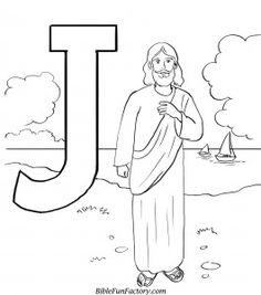 J For Jesus Coloring Page Free Online Printable Pages Sheets Kids Get The Latest Images Favorite