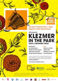 /// The band stand in Regent's Park, #London hosts Klezmer in the Park from 1-6pm, this Sunday (free). #Klezmer, where #Jewish #music lives.