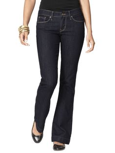 See Our Favorite Jeans & Vote! These are from the Denizen Jean collection from Levi's.  These slim hips and thighs.  Make legs look nice and long.  I want a pair of  these also.  :-)  Available @ Kohls.