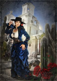 Film Quality Costume Design, Video Productions and Digital Art Wild West Costumes, Cowboy Action Shooting, New West, Victorian Steampunk, Ravenna, Costume Design, Old And New, Indigo, Cowgirls