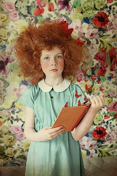Photo by Wanda Kujacz Kids Pop, Cute Kids, Quirky Fashion, Kids Fashion, Photography Backdrops, Portrait Photography, Redheads Freckles, Curly Girl Method, Magazines For Kids