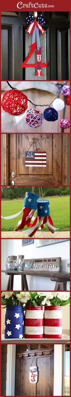 7 Patriotic DIY Ideas | 4th of July Crafts | http://CraftCuts.com