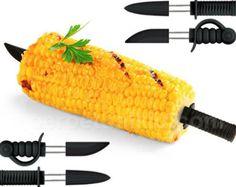 Pirate vs. Ninja corn skewers