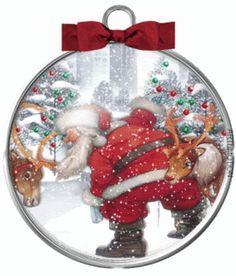 santareindeersnowornament-1.gif 1 Gif, Snow Globes, Santa, Home Decor, Decoration Home, Room Decor, Home Interior Design, Home Decoration, Interior Design