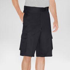 Dickies Men's Loose Fit Twill 13 Cargo Short- Black 36
