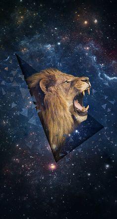 Lion galaxy wallpaper