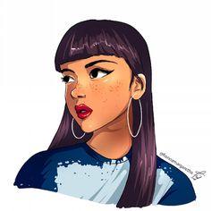 Reminds me of Chel in Eldorado.  #portrait #illustration #chel #eldorado #disney #lookalike #longhair #bangs #sexy #pretty #dailyart #dailyinsta #instaart #openorder #opencommission #simple #speedpaint #drawing #facedrawing #artwork #art #beauty...