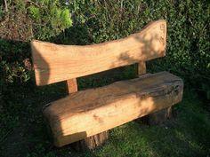 Rustic Wood Garden Bench (3) Wooden Garden Seats, Small Garden Bench, Outdoor Garden Bench, Backyard Garden Landscape, Garden Landscaping, Rustic Outdoor Benches, Rustic Wood Bench, Rustic Patio, Rustic Furniture