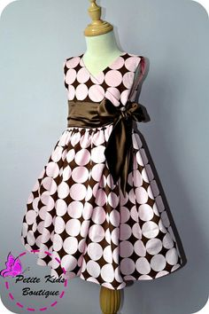 Anya Dress for Girls 12M8Y PDF Pattern & by TheLilyBirdStudio, $6.90