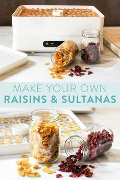 Dehydrator Recipes, Make Your Own, How To Make, Raisin, Allrecipes, A Food, Yogurt