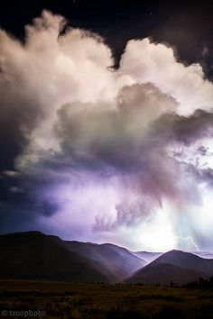 Mother Nature - Clouds - Stars - Moonbow - Lightning