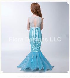 Mermaid dress Mermaid costume mermaid tail by FloraDesignsLLC